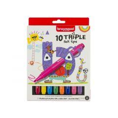 Bzl Viltstiften Triple Set 10#