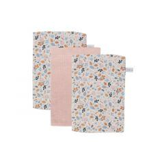 Little Dutch Washand - Pure Pink / Spring Flowers (Set Van 3)