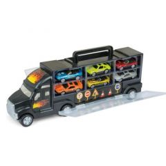 Gear2Play Storage Truck + 6 Diecast Cars