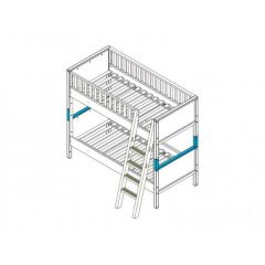 Bopita Nordic Supportset Stapelbed Nordic Wit