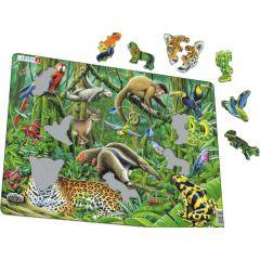 Larsen Puzzel Maxi Dieren Zuid-Amerikaans Regenwoud 70St.