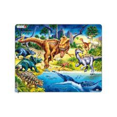 Larsen Puzzel Maxi Dieren Dinosaurussen Uit Het Krijt Tijdperk 57St.