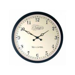 Nextime Wall Clock - 25 X 3.5  - Metal - Glass - Black - 'Aaltje'