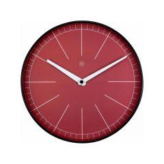 Nextime Wall Clock - Ø 25 Cm - Plastic - Red - 'Axel'