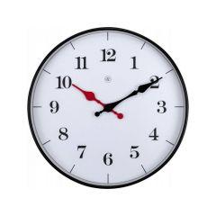 Nextime Wall Clock - Ø 25 Cm - Plastic - White - 'Bernard'