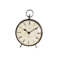 Nextime Alarm Clock - 17.5 X 12.5 X 6.5 Cm - Metal - Black - 'Charles'