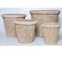 Bloempot D38Xh34Cm Terracotta Antiek Bruin (midden)