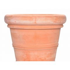 Bloempot D40Xh33Cm Terracotta White Washed