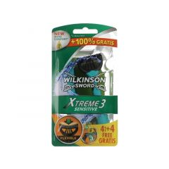 Wilkinson Xtreme 3 Sensitive 4+4 Gratis