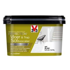 V33 Perfection Vloer&Trap Satijn 2L Wit