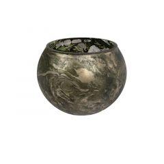 Sfeerlicht Bol Glas Camouflage L D14X10Cm Mosgroen