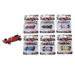 Formula 1 Auto Die Cast Free Wheel 8Cm 6 Assortimenten Prijs Per Stuk