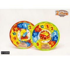 2-Play Klokpuzzel Hout 25X25X0.8Cm 2 Assortimenten Prijs Per Stuk