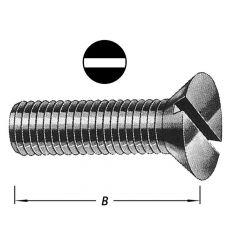 Metaalbouten Platte Kop + Moer M 6 X 40