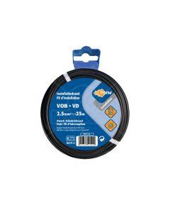 VOB 2,5 mm² 25m zwart