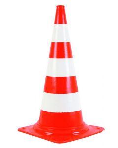 Rood/witte verkeerskegels 75cm