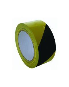 Markeertape 50mmx33m geel zwart