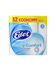 Edet Toiletpapier Family 3L Decor 32 Rol