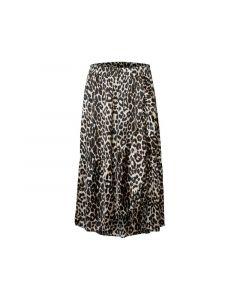 Pieces 1812 Pckimi Mw Medi Frill Skirt D2D Black All Over Leo Print M