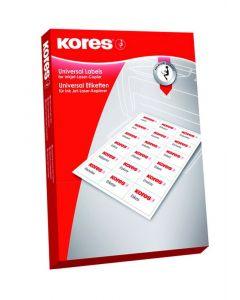 Kores Inkjet Laser Copier Labels 38.1X21.2Mm 100St