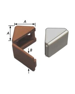 4 Plankdrager-Verbinders, Pvc Wit/Blanc