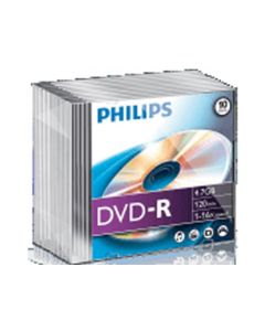 Philips Dvd-R 4.7Gb 16X Slim Jc 10St