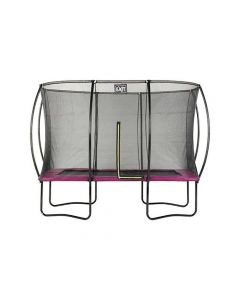 Exit Silhouette Trampoline + Safetynet Rect. 214X305Cm Pink