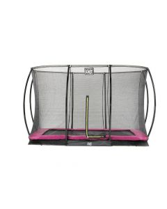 Exit Silhouette Ingraaf Trampoline + Safetynet Rect. 244X366Cm Pink