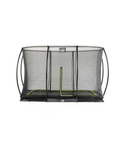 Exit Silhouette Ingraaf Trampoline + Safetynet Rect. 214X305Cm Black