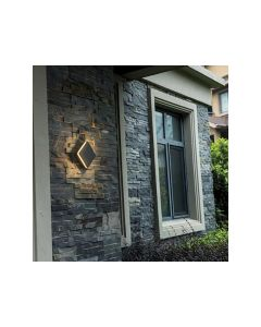Outdoor Wall Ip54 12W Dark Grey Square 550Lm 12.5W