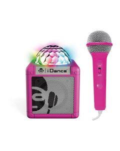 Idance Cube Sing 100 Pk Portable Bluetooth Speaker + Mic