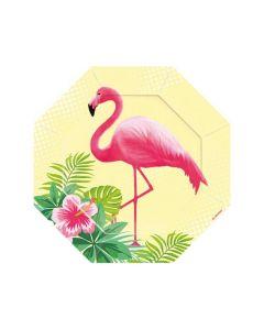 Party Display Xl Flamingo Paradise 6 Borden In Vorm Van Flamingo Paradise 18Cm