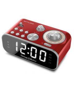 Muse M 18 Crd Vintage Clock Radio Red Finish