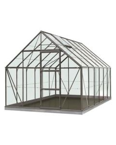Serre Intro Grow - Oliver - 9,9M² Antraciet Grijs Ral7016 Poly 6Mm - 2,57M X 3,84M X H1,20M/2,23M