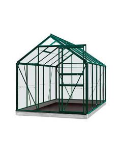 Serre Intro Grow - Oliver - 9,9M² Groen Ral6009 Poly 6Mm - 2,57M X 3,84M X H1,20M/2,23M