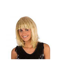 Pruik Met Lametta Blond