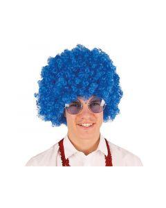 Pruik Gr. Krullebol Blauw