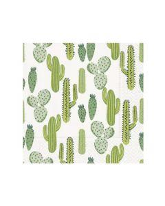 Paper Design Servetten 33X33Cm 20St. Desert Cacti
