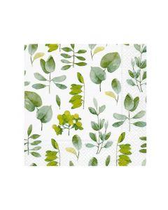 Paper Design Servetten 33X33Cm 20St. Fresh Leaves
