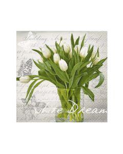 Paper Design Servetten 33X33Cm 20St. White Dream