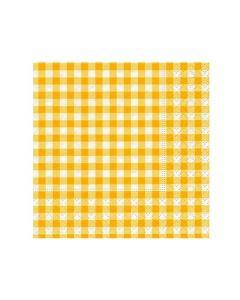 Paper Design Servetten 25X25Cm 20St. New Vichy Yellow