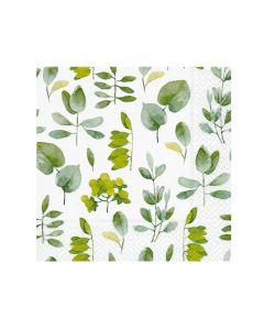 Paper Design Servetten 25X25Cm 20St. Fresh Leaves