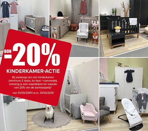 20% Korting bon op Kinderkamers