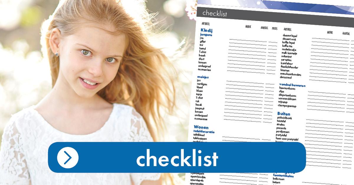 Communielijst - Checklist